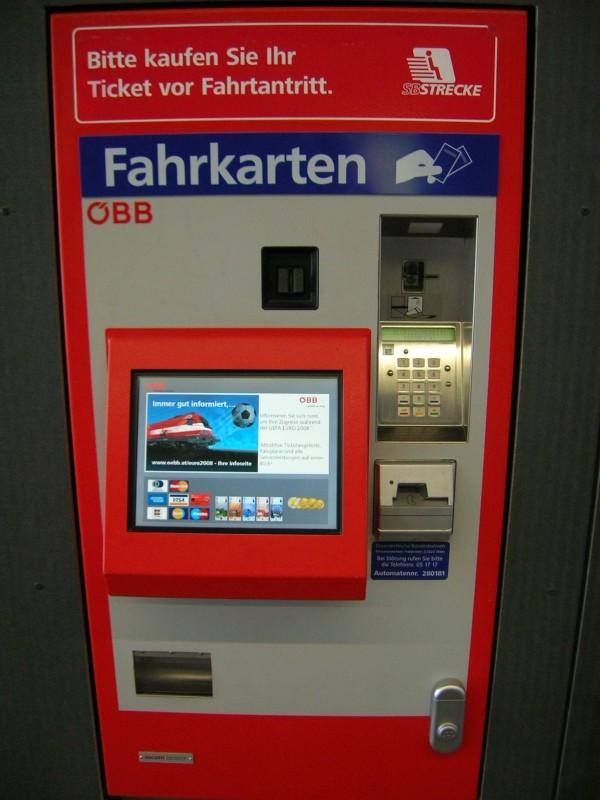 bedienung fahrkartenautomat